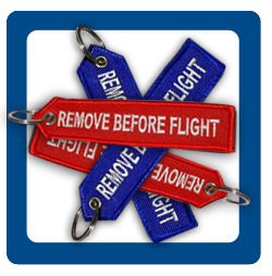 Breloki REMOVE BEFORE FLIGHT